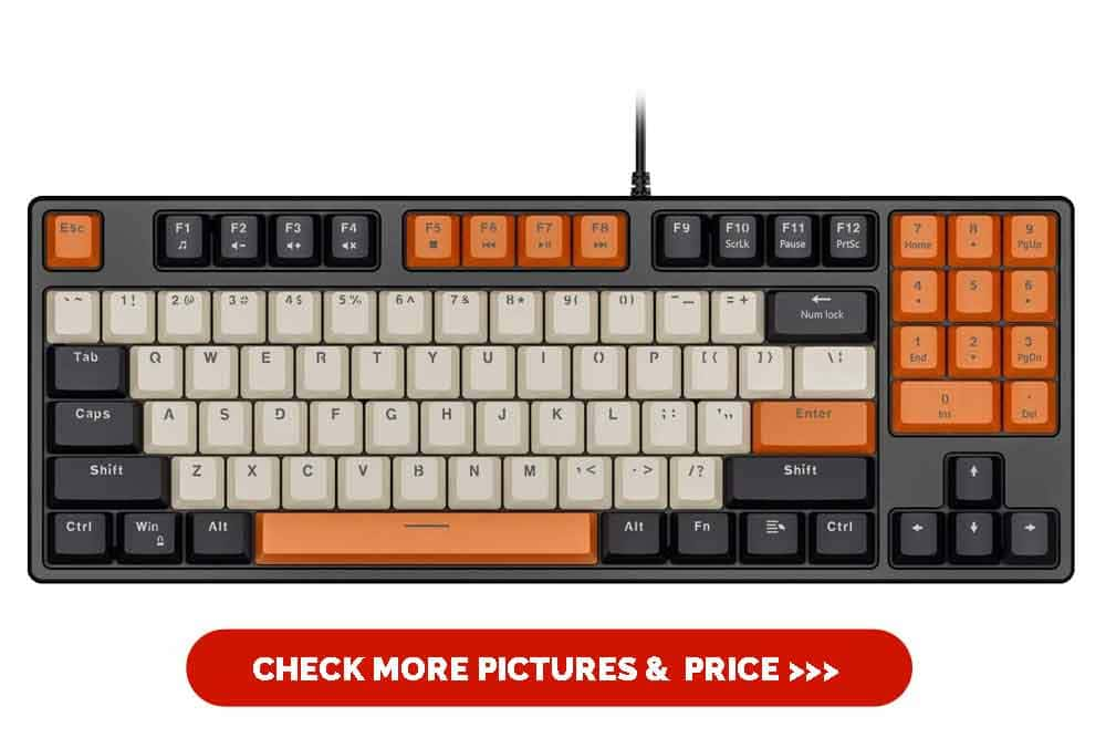 Havit Mechanical Keyboard Wired 89 Keys Gaming Keyboard