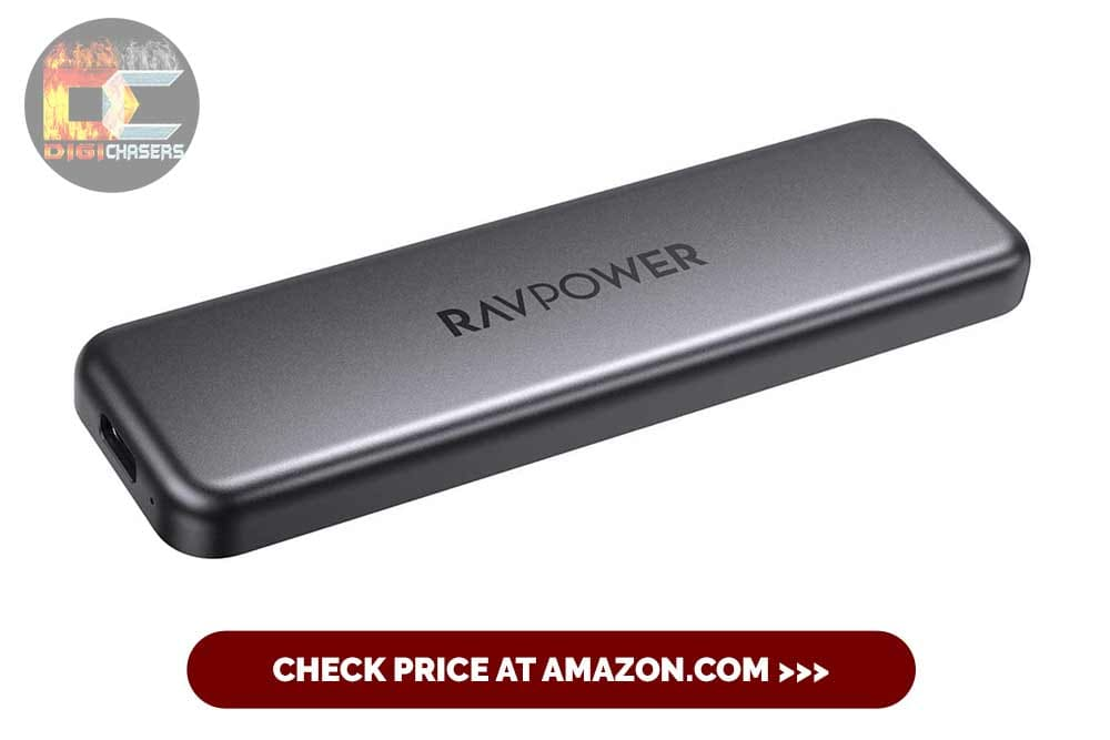 RAVPower Portable External SSD Pro, 1TB Hard Drive with 540MBs